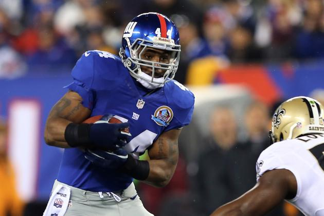 Report: New York Jets Pursuing Former Giants RB Ahmad Bradshaw for 2013