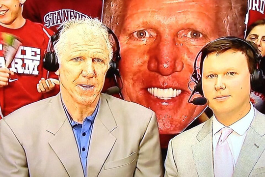Bill Walton: Photobomb with Face Blow-Up at Stanford