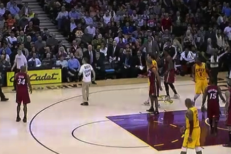 Cleveland Fan Runs on the Court in LeBron James' Return Home