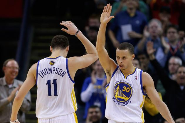 Warriors' Stephen Curry, Klay Thompson Playing Big Minutes, Loving It