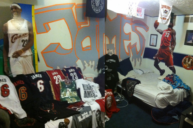 LeBron James Court-Rusher Has Insane Collection of King James Memorabilia
