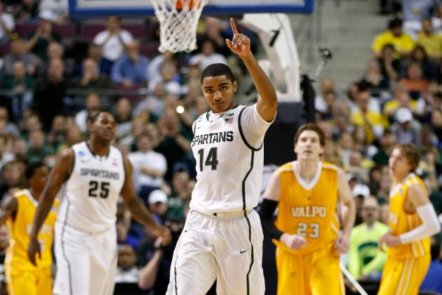 2013 NCAA Tourney: No. 3 Seed Michigan State Defeats No. 14 Seed Valparaiso