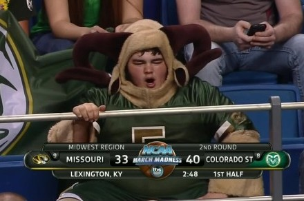 Colorado State Ram Boy Won the First Day of the NCAA Tournament