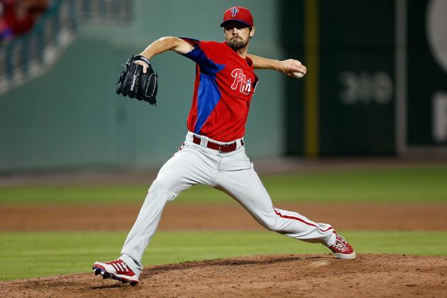 Hamels Strikes Out Victorino in Solid Outing vs. Red Sox