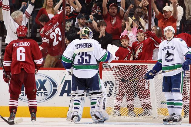 Canucks Hold off Slumping Coyotes, Win 2-1