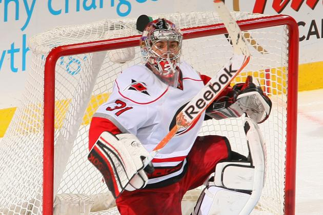 Canes Lose Another Goalie – Ellis out with Leg Laceration