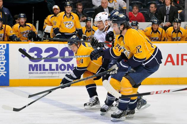 Fisher Scores Twice as Nashville Predators Beat Calgary Flames 5-3