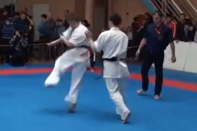 This Insane Karate Knockout Will Make You Dizzy