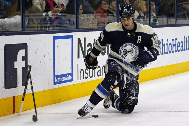 Jackets' Dubinsky (Lower Body) out Versus Flames