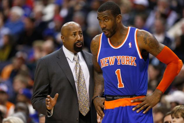 Knicks' Woodson Wants to Formulate Lineup Without Amar'e in Mind