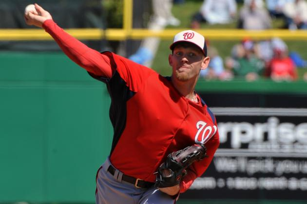 Stephen Strasburg OK After Taking Line Drive off Wrist