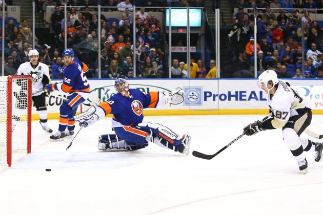 Pens Rally Past Islanders for 11th Straight Win