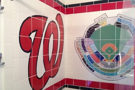 Nats-Themed Bathroom