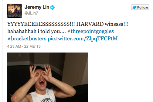 Harvard's Historic Upset Turns Up the Twitter Volume
