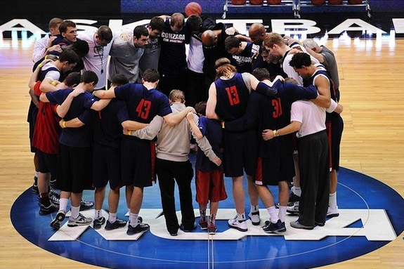 Gonzaga Shy to Accept the Pressure of No. 1 Seed Expectations
