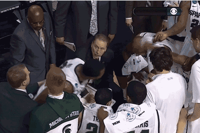 VIDEO: Michigan State Has Huddle Towel Fight