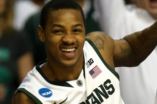 Keith Appling Injures Shoulder During MSU's Victory, Says He'll Play in Sweet 16