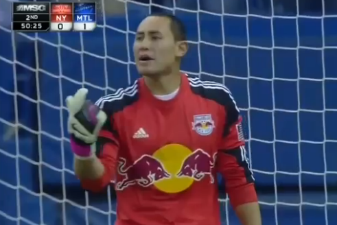 SAVE: Robles Saves a Booming Shot from Pisanu