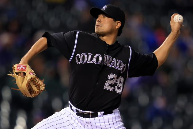Rockies Jorge De La Rosa Scratched with Forearm Tightness