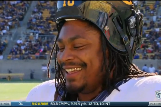 Marshawn Lynch Scores Touchdown in Cal Spring Football Game