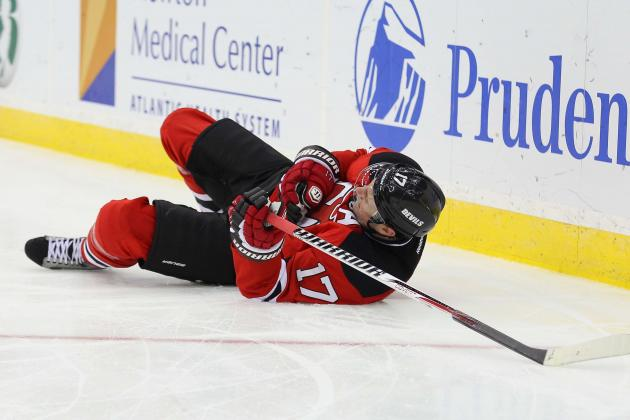 Ilya Kovalchuk Leaves Game with Shoulder Injury