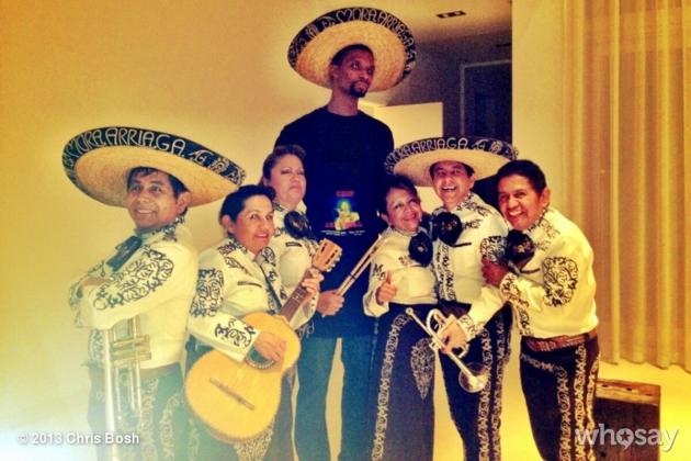 Chris Bosh Celebrates 29th Birthday by Hiring Mariachi Band