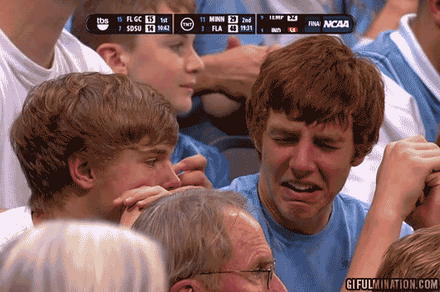 UNC Fan Struggle Face