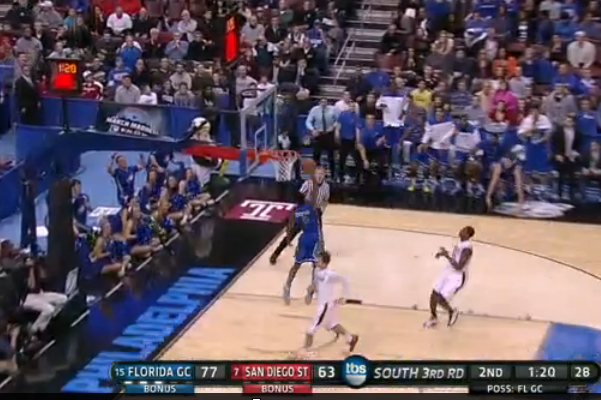 FLAGS-SDSU: (2nd, 1:21) Dunk by Thompson