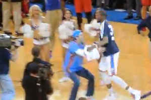VIDEO: Thunder Fan Drills Half Court $20,000 Shot