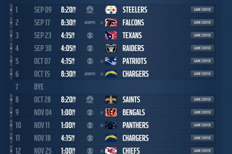 Mock schedule projecting the denver broncos 2013 regular season nfl screengrab from last season voltagebd Image collections