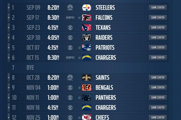 Mock Schedule: Projecting the Denver Broncos' 2013 Regular-Season Schedule