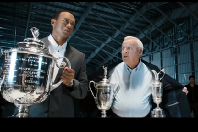 VIDEO: Tiger Woods and Arnold Palmer Fight Bad Guys