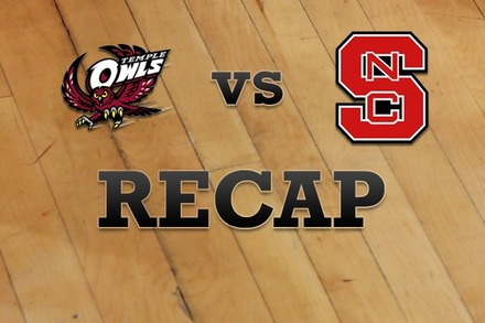 Temple vs. NC State: Recap, Stats, and Box Score