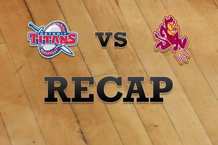 Detroit vs. Arizona State: Recap, Stats, and Box Score
