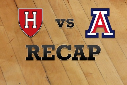 Harvard vs. Arizona: Recap, Stats, and Box Score
