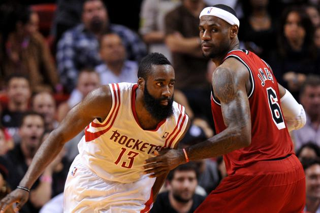 Harden, LeBron Named NBA Players of the Week