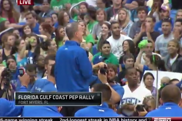 ESPN Goes Live to FGCU Pep Rally to Catch an Extended