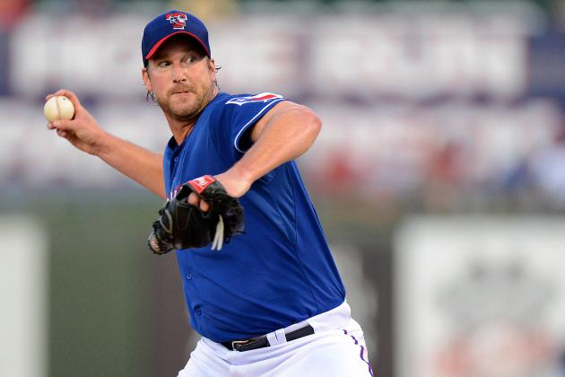 Derek Lowe Is the Rangers' Long Man