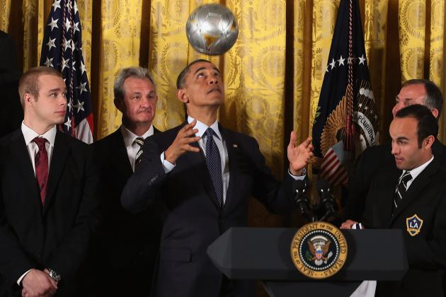 Reigning MLS Champion LA Galaxy Visit President Obama at the White House