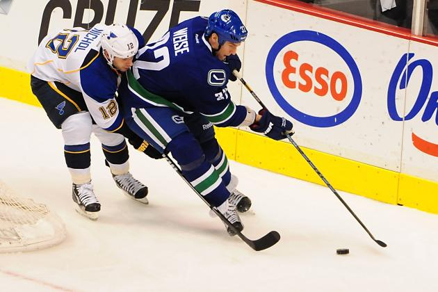 Canucks Dale Weise, Steve Pinizzotto Won't Be Sidelined for Long