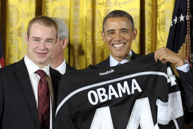 Reigning NHL Champion LA Kings Visit President Obama at the White House
