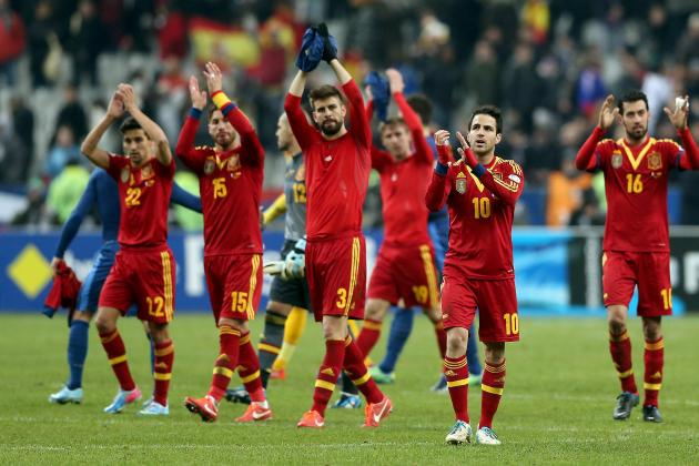 France vs Spain: Victory Ensures La Roja's Status as Favorites for Brazil 2014