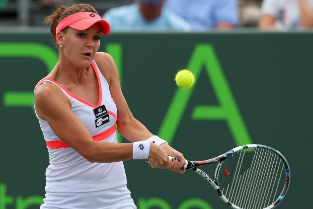 Agnieszka Radwanska Hits the Shot of the Year at the Sony Open