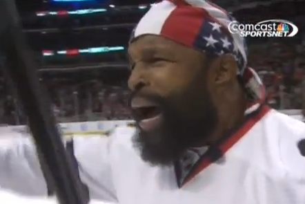 VIDEO: Mr. T Shoots from Center Ice in Chicago, Correctly Predicts PAIN