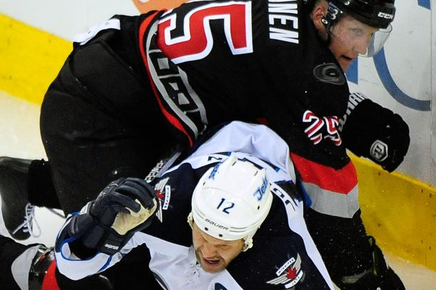 Jets' Kane Tallies 4 Points in Win over Hurricanes