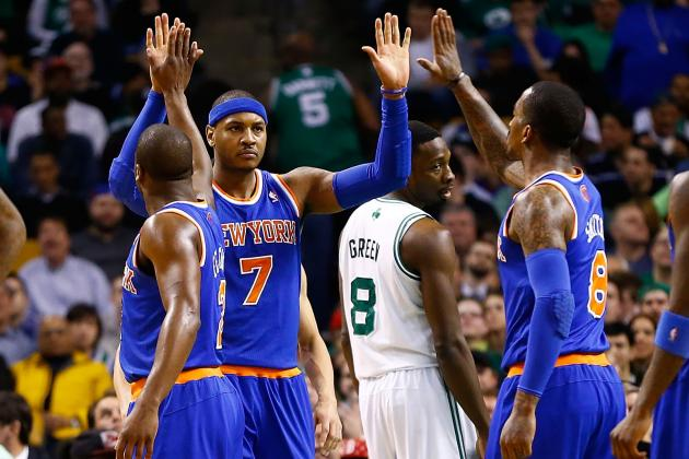 Carmelo Anthony: 'It's a Great Feeling' to Beat the Celtics