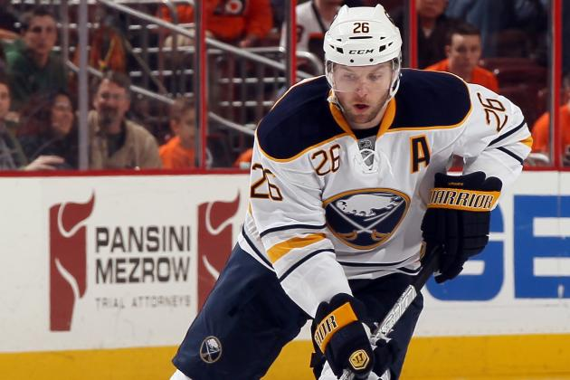Buffalo Sabres Winger Thomas Vanek Suffers Upper-Body Injury