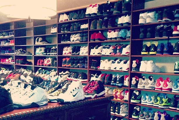 Chris Paul Has Amassed a Ridiculous Shoe Collection in His House