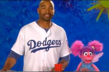 Kemp Visits Sesame Street