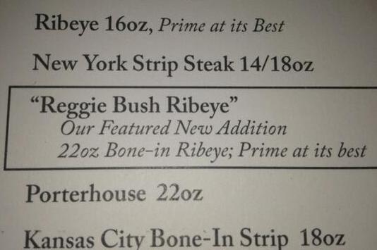 Welcome to Detroit: Steakhouse Adds 'Reggie Bush Ribeye' to Menu